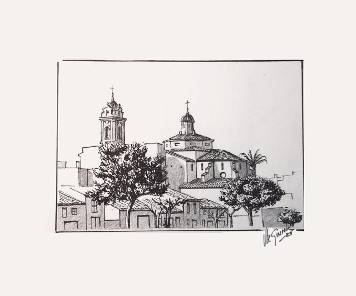 Sant Blai – 20×20 cm –(VENDIDO)